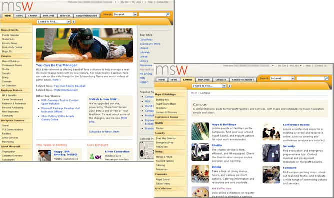 MSW Redesigned Site at Launch