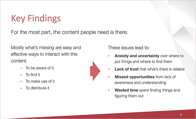 Gap analysis key findings